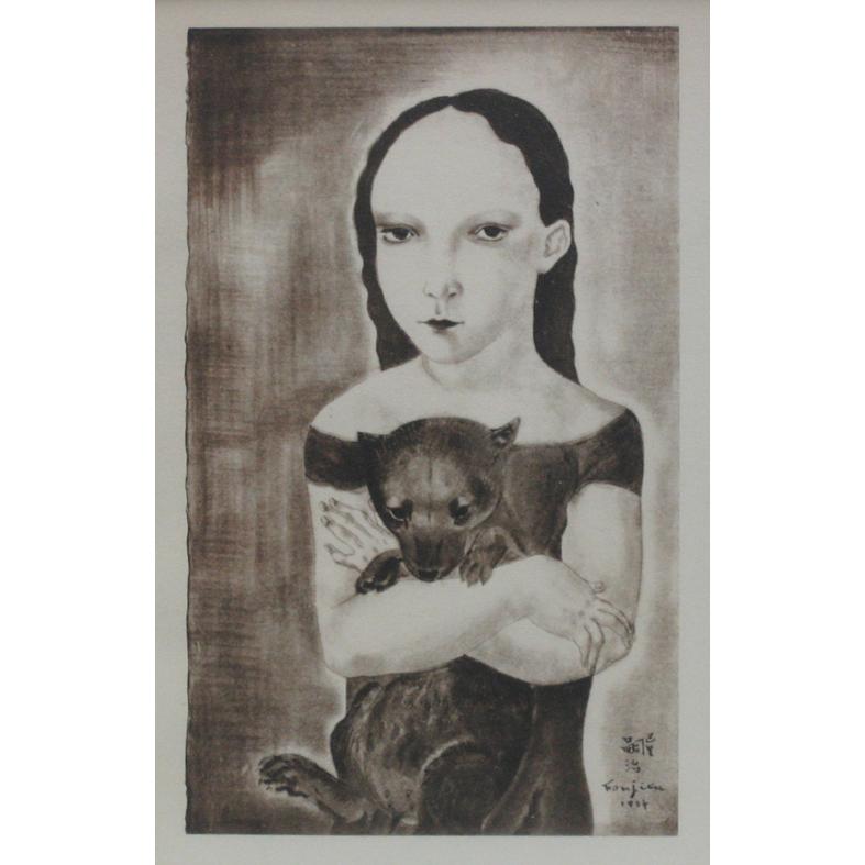 (作品集)小犬を抱く少女
