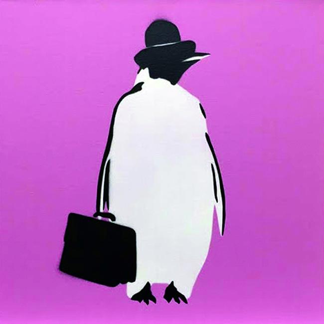 ペンギン出勤(ピンク)