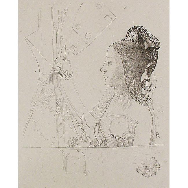 (習作)エナン帽を被る女の横顔