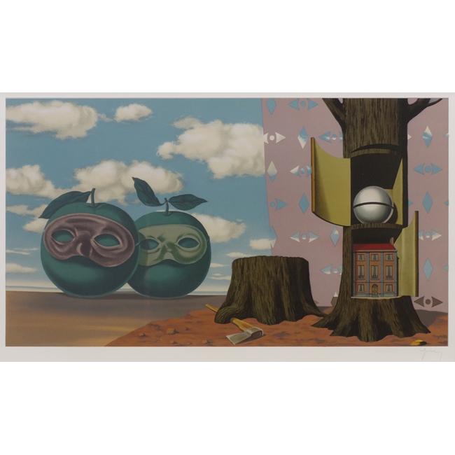 (魅せられた領域)海辺を訪れた2つの林檎