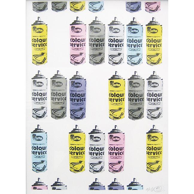 スプレー缶・4色