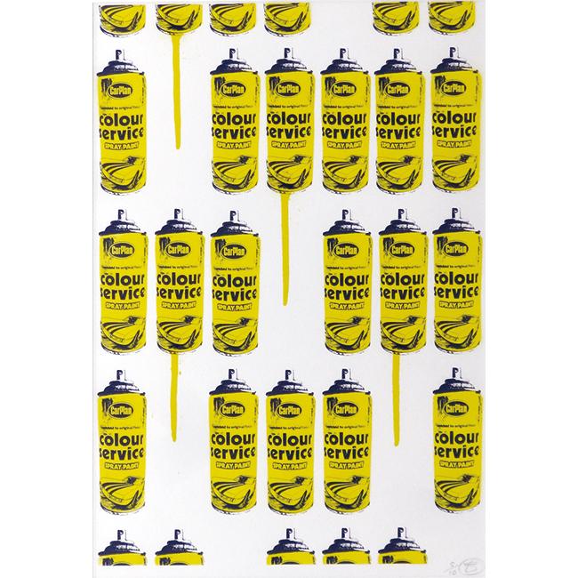 スプレー缶・黄