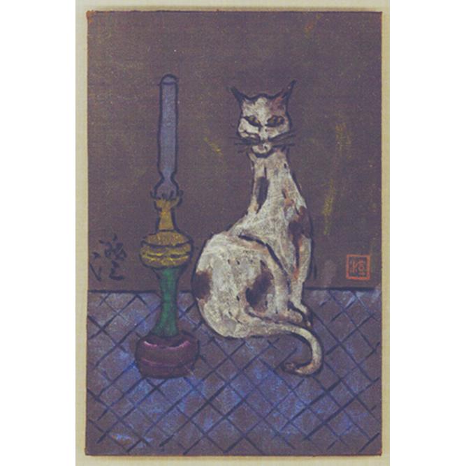猫とランプ