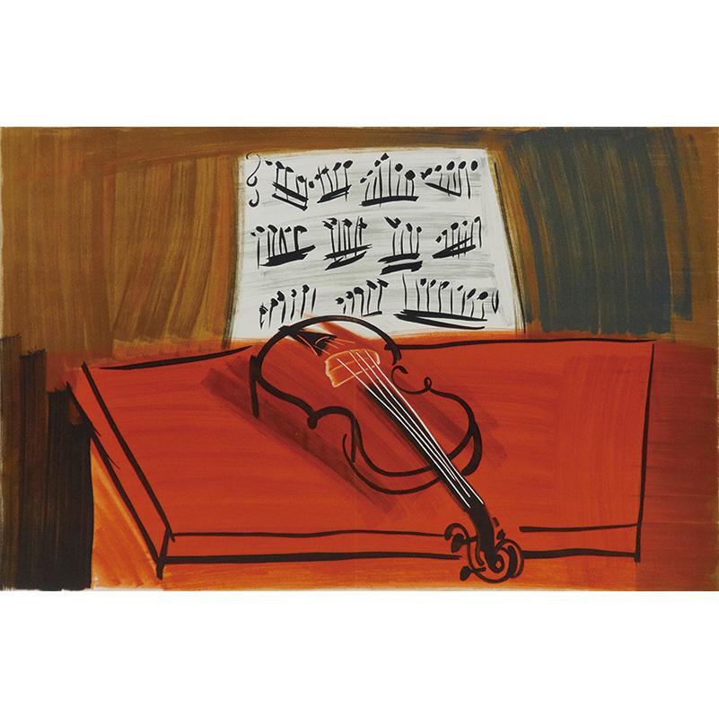 ≪天使のコンサート≫机上のヴァイオリン