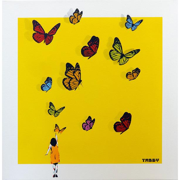 蝶々ガール (黄)